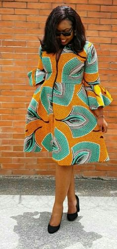 Classy Ankara Wears To Inspire You This Weekend - WearitAfrica Nigerian Dress Styles, Short African Dresses, Ankara Dress Styles, African Print Dresses, Ankara Tops, African Fashion Ankara, Latest African Fashion Dresses, African Print Fashion, Africa Fashion