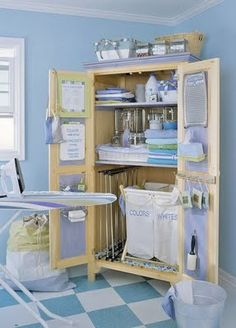 Laundry Room Armoire- could def. do this in the basement bathroom!