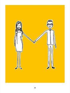 Designer pede namorada em casamento usando 19 posters tipográficos. #Marryme #Type #Love