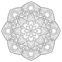 Esprit Mandala on Behance Pattern Coloring Pages, Free Adult Coloring Pages, Mandala Coloring Pages, Coloring Book Pages, Mandala Drawing, Mandala Pattern, Colorful Drawings, Art Pages, Doodle Art