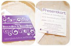 Varför inte ge bort ett presentkort till någon kär vän :)