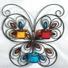 Butterfly Kitchen Butterfly Wall Art Sconce Candle Holder Home Decor New Home Kitchen