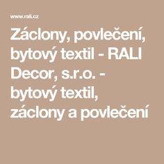Záclony, povlečení, bytový textil - RALI Decor, s.r.o. - bytový textil, záclony a povlečení Math Equations