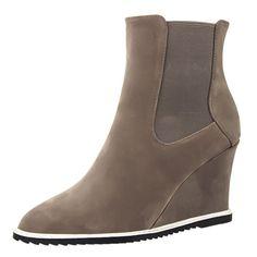 high heel wedge tip suede boots Martin winter show thin short women boots Wedge Heels, High Heels, Martin Boots, Suede Boots, Wedges, Winter, Shoes, Women, Zapatos