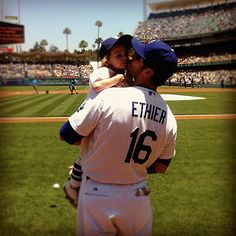 Andre Ethier and his son Retton on Father's Day!