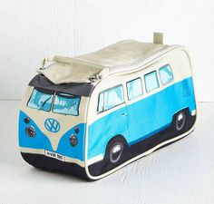 A VW bus that transports toiletries instead of people.