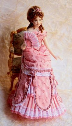 Pink Victorian Lace Doll... Looks like Liz Taylor