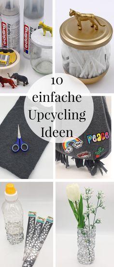 DIY Upcycling: Ich zeige Euch in diesem Blog Beitrag meine schönsten Upcycling Ideen! Egal, ob es sich um Kleidung, Möbel oder Deko handelt, das Upcycling geht schnell und easy und macht super viel Spaß. Dafür müsst Ihr noch nicht einmal nähen können. Außerdem eignet sich das Upcycling super zum Basteln mit Kindern, denn die lieben es, etwas altes in neuem Glanz erscheinen zu lassen.