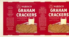 Graham Crackers Box to print out in miniature - link brings you to collection of 700+ VINTAGE PACKAGES (mostly 60s/70s, some earlier) | Source: Jason Liebig @ flickr