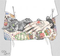 Tattoo Illustrations by Rik Lee | Cuded