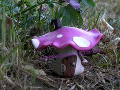 Fairy Mushroom House small  Pink Wild Mushroom Fairy by Fairyshack, £10.00