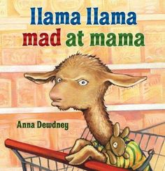 Yucky music, great big feet. Ladies smelling way too sweet. Look at knees and stand in line. Llama Llama starts to whine. Does any child like to go shopping? Not Llama Llama! But Mama cant leave Llama