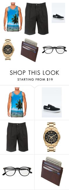 """""""Beach"""" by breonna9 ❤ liked on Polyvore featuring NIKE, Aspesi, Michael Kors, Tom Ford, men's fashion and menswear"""