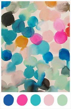 'Late Summer' colour palette inspiration - cobalt, hot pink, turquoise, candy, mint