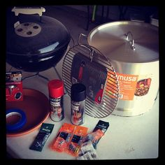 Recently, RSM David Reber took on a very cool project: converting a stock pot and a Weber Smokey Joe grill into a mini-Weber Smokey Mountain smoker. Now you can learn from his experience. Build A Smoker, Diy Smoker, Kettle Bbq, Weber Kettle, Smokey Joe, Smoke Grill, Weber Grill, Grill Master, Grilling Recipes