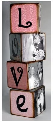 """love blocks decor...but with """"faith"""" and Bible verses to go with the pictures"""
