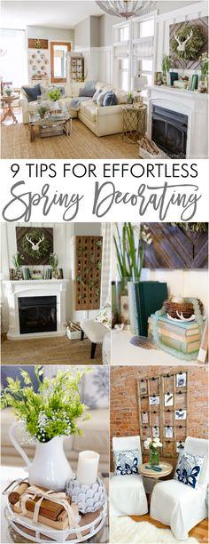 Great tips for effortless spring decorating