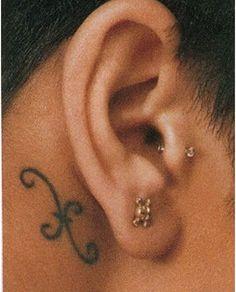 Rihanna Pisces Symbol Tattoo Design
