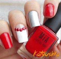 61 Mejores Imagenes De Unas Rojas Con Diseno Pretty Nails Red