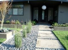 Incredible modern front yard landscaping ideas (36)