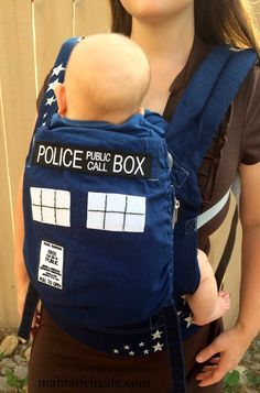 Mama's Felt Cafe: How to turn an Ergobaby Carrier into a TARDIS  I would totally do this if I had more skills in the craftiness department.