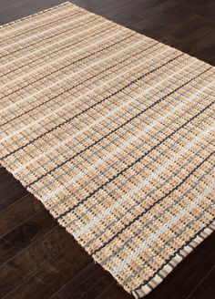 Mudroom  The Andes collection is hand-woven with jute and recycled Chindi cotton fabric for touches of both color and a softer feel. Eco friendly and durable, these rugs fit in a variety of homes.