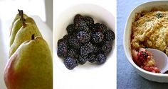 Pear Blackberry Crisp (recipe & tutorial)