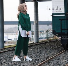 Touche 2017 new season collection is under our lens. Elegant, elegant and . Touche 2017 new season collection is under our lens. Stylish, elegant and urban designs with the most interesting parts of the Touche brand with you! Iranian Women Fashion, Arab Fashion, Turkish Fashion, Muslim Fashion, Hijab Casual, Hijab Style, Hijab Chic, Hijab Outfit, Modern Hijab Fashion