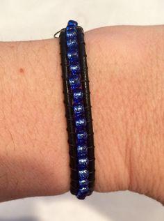 Thin Blue Line Bracelet by Mommaof4Design on Etsy