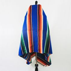 vintage mexican handwoven serape blue by VeraLyndon on Etsy