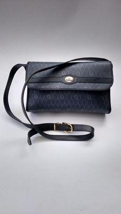 67b96b91ed76 DIOR Christian Dior Vintage Burgundy Leather Shoulder Bag. French designer  purse