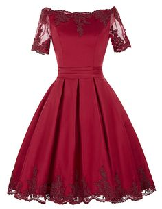 Short Sleeve Evening Dresses Champagne Red Lace Gowns Mother of the Bride Dresses Bridal Dress Robe de Soiree 2017 0062