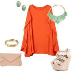 Orange, created by brihan on Polyvore