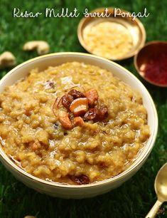 millet sakkarai pongal recipe Sakkarai Pongal Recipe, Dal Fry, Millet Recipes, Cardamom Powder, Clarified Butter, Cheeseburger Chowder, Food Videos, Fries, Cooking