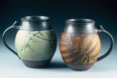 Suzanne Crane - These mugs are simply gorgeous.... I can only aspire to ever making pottery like this.