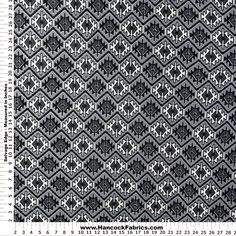 Fashion Hatchi Knit Aztec Grey and Black Polyester Fabric - Fashion Knits