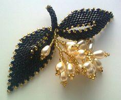 Victoriya Katamashvili. Russian Leaves in beaded jewelry