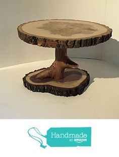 Tree slice display stand, rustic wedding or home décor, centerpiece, cake stand, plant holder, woodland wedding. from Nazareth Wood Creation https://www.amazon.com/dp/B01MEGRCZG/ref=hnd_sw_r_pi_dp_SCReyb6DWQS22 #handmadeatamazon