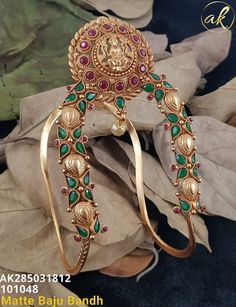 Temple Jewellery by Ankh Jewels for booking msg on 1 Gram Gold Jewellery, Gold Jewellery Design, Temple Jewellery, Silver Wedding Jewelry, Gold Jewelry Simple, Gold Bangles, Gold Earrings, Vanki Designs Jewellery, Vanki Ring