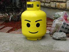 Make a Lego Head Propane Tank