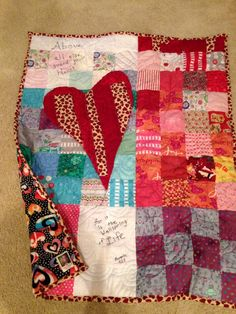 Heart quilt for Julianna ...Above all else guard your heart for it is the wellspring of life. Proverbs 4:23.