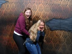Check out this horrified pair! http://www.nightmaresfearfactory.com/top-10-fear-pics-week-november-26-2014 #NFF #nightmares #fear #factory #top #10 #best #pic #haunted #house #scary #scared #haunt #funny #niagara #falls #clifton #hill