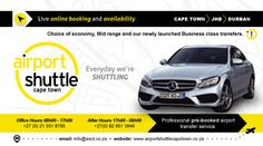 Airport Shuttle Online Booking, Confirmation and Payment Airport Shuttle, Business Class, Cape Town