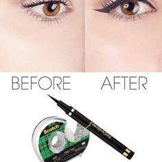Luckily, sketching on exotic cat eyes just got a whole lot easier thanks to this one sticky trick.