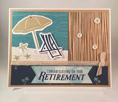 Retirement Card, Handmade Retirement Card, Beach Retirement Card