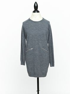 Kelley Derrett Collection in Wellington is a modern take on Woman's Apparel with a focus on Women's Knitwear and Sustainable Fashion designed by Kelley Derrett Fall Winter 2014, Sustainable Fashion, Merino Wool, Knitwear, Charcoal, Tunic, Pocket, Zip, Clothes For Women