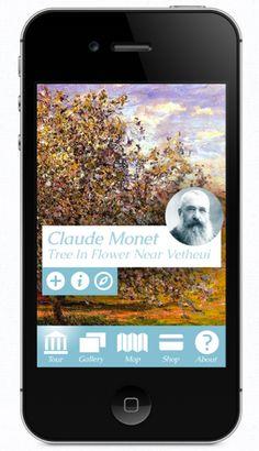 Museum Of Impressionism App Concept  Graphic Design, Icon Design, User Interface Design