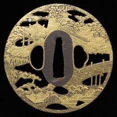 10.Tsuba. Kyoto city. Late Edo period. Yamashiro province, Kyoto