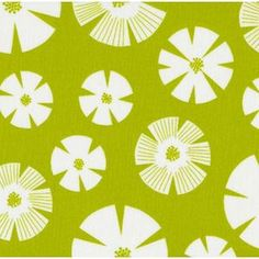 Stof House Designer - Pure - Stamped Flower in Lime