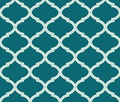 Lily in Shades of Teal fabric by sparrowsong on Spoonflower - custom fabric
